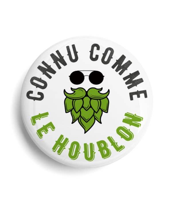 Badge bière Connu comme le houblon