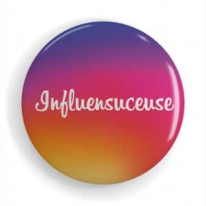 Badge réseaux sociaux Instagram Influensuceuse