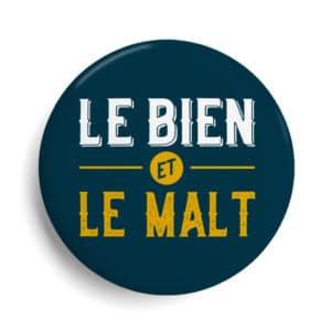 Badge bière Le bien et le malta