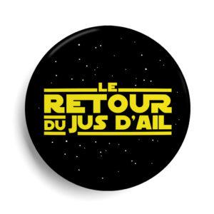 Badge cinéma Le retour du jus d'ail