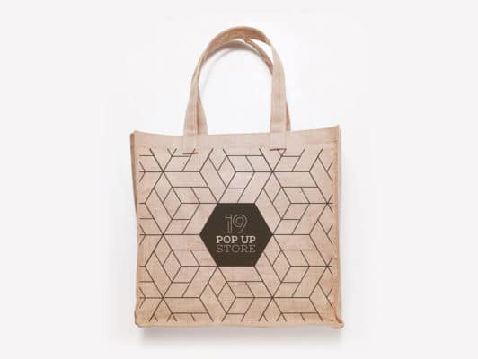 Tote bag pour un pop up store