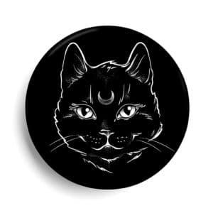 Chat noir mystique lunaire