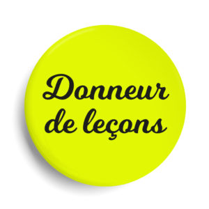 Badge donneur de lecon jaune fluo