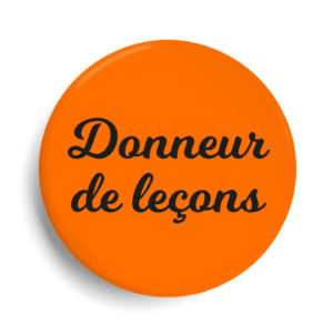 Badge donneur de lecon orange fluo