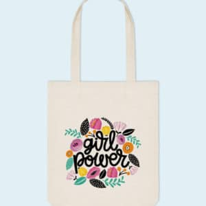 Tote bag coton bio Girl Power