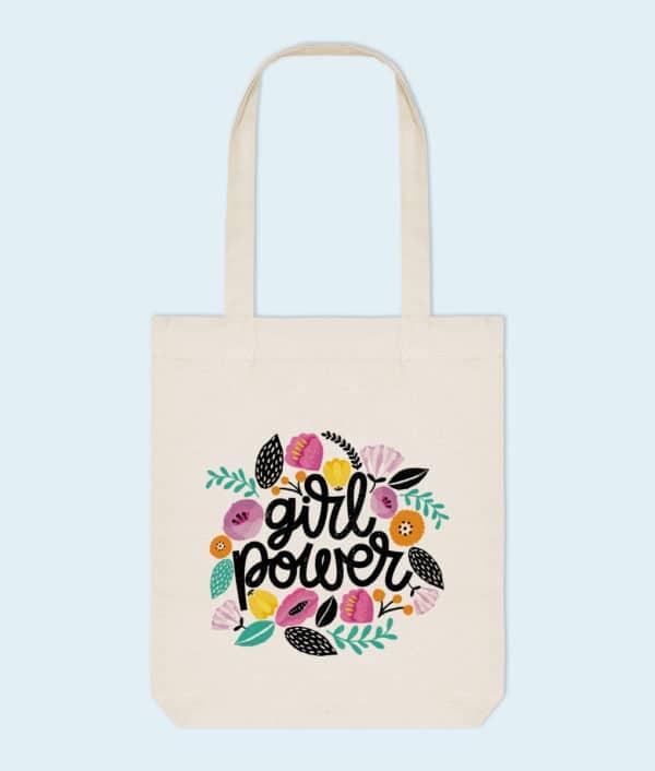 Tote bag coton bio Girl Power