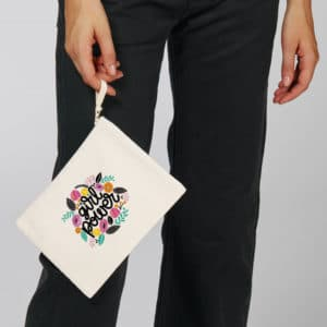Mise en situation Pochette coton bio Girl Power