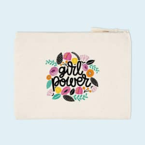 Pochette coton bio Girl Power