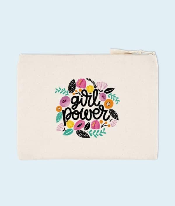 Pochette coton bio Girl Power