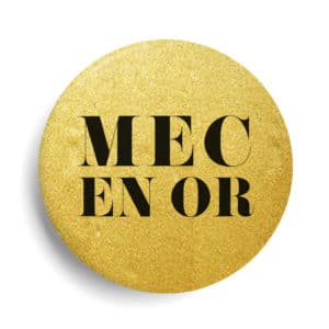 Mec or badge métallisé or