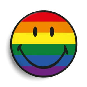 Badge personnalisé smiley LGBT