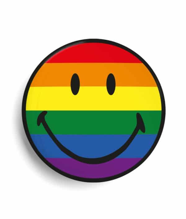 Badge personnalisé smiley LGBT