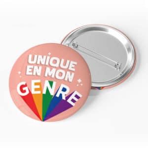 badge personnalisé unique en mon genre LGBT